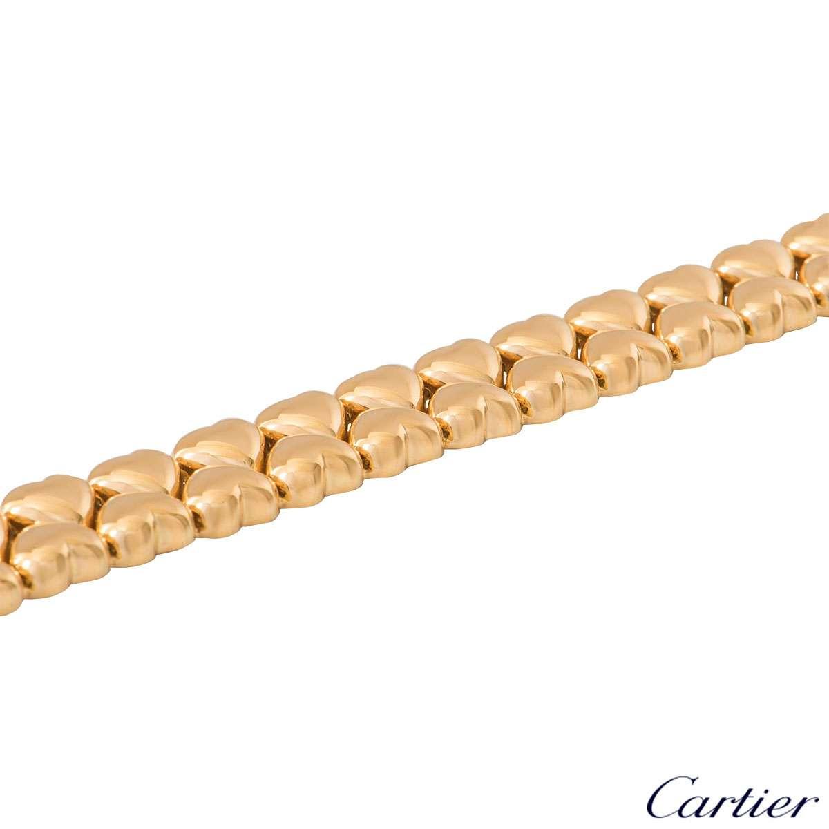 Cartier Yellow Gold Heart Link Bracelet